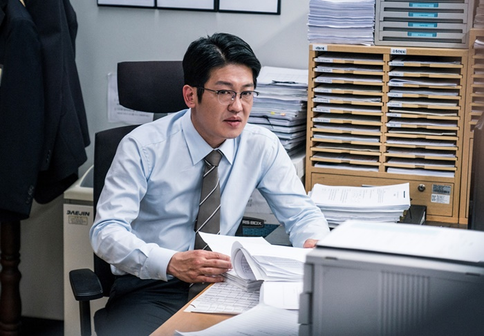 영화 '블랙머니'(감독 정지영)에서 최프로를 연기한 허성태 스틸컷. /에이스메이커무비웍스